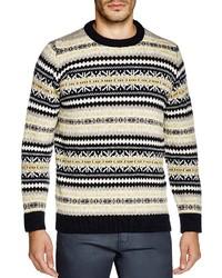 Gloverall Fair Isle Crewneck Sweater