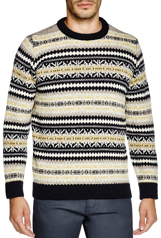 Gloverall Fair Isle Crewneck Sweater | Where to buy & how to wear