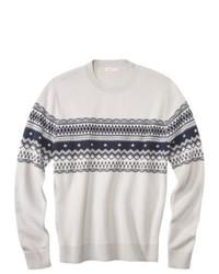 Merry Link Co., Ltd. Merona Pullover Fair Isle Sweater Pebble M