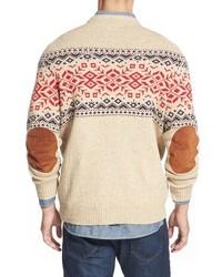 Vineyard Vines Rag Fair Isle Crewneck Sweater With Suede Elbow ...