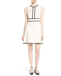 Kate Spade New York Scallop Trim Tweed Fit Flare Dress
