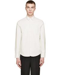 rag & bone Cream Flannel 34 Placket Shirt