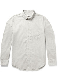 Club Monaco Slim Fit Button Down Collar Cotton Flannel Shirt