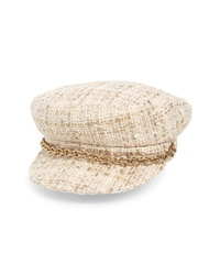 Maison Michel Abby Shiny Tweed Baker Boy Cap