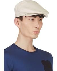 Burberry Prorsum Ecru Linen Flat Cap