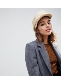 Brixton Unstructured Baker Boy Hat In Cream