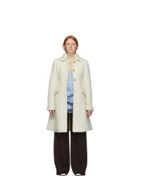 Marina Moscone Off White Longhair Irving Coat