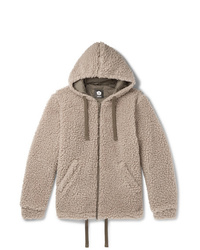 Aspesi Wool Blend Fleece Zip Up Hoodie