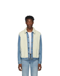 Beige Fleece Shirt Jacket