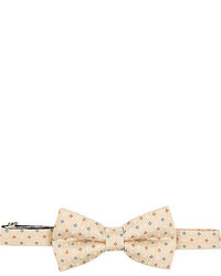 River Island Yellow Small Floral Print Bow Tie