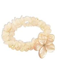Macy's Sterling Silver Bracelet Pink Cultured Freshwater Pearl Three Strand Flower Bracelet