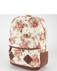 Carrot company floral print backpack beige one size for 237820426 medium 359318