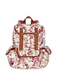 OLSENBOYE Floral Cargo Backpack Pink