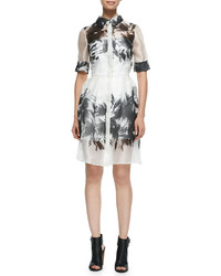 Floral mirage printed shirtdress medium 347476