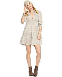 Tiered floral print shirtdress medium 347475