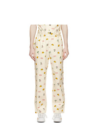 Clot Off White All Over Print Pajama Lounge Pants