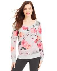 Style&co. Sport Long Sleeve Floral Print Sweatshirt