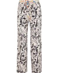 Stine Goya Aileen Floral Print Stretch Pants