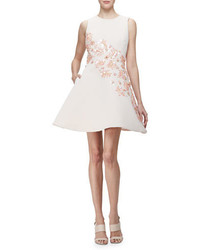 Kate Spade New York Sleeveless Floral Embellished Fit Flare Dress