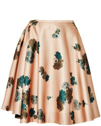 No 21 genny floral print satin skirt pink medium 109188