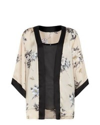 Cameo rose new look black 2 in 1 cami and floral kimono medium 743702
