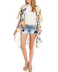 Miss Me Floral Print Cascade Kimono