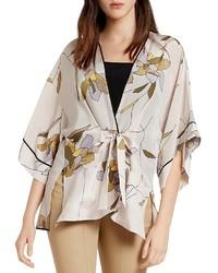 Halston Heritage Floral Silk Kimono