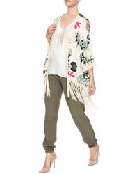 Nadyas Closet Floral Fringe Kimono