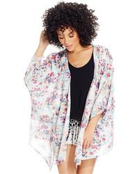 O'Neill Semi Sheer Floral Kimono Jacket