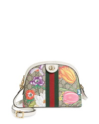 Gucci Small Ophidia Floral Gg Supreme Shoulder Bag