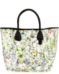997a95a201 ... Neiman Marcus Floral Clear Tote Bag Floral