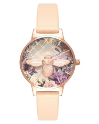 Olivia Burton Glasshouse Leather Watch