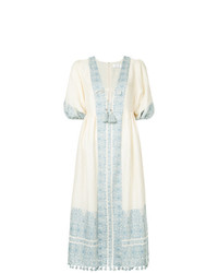 Zimmermann Floral Bordered Midi Dress