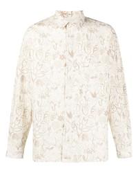 Jacquemus Baou Floral Print Long Sleeve Shirt