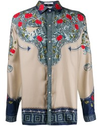 Versace Collection Rose Long Sleeve Shirt
