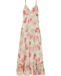 Paul & Joe Floral Print Cotton Gauze Maxi Dress