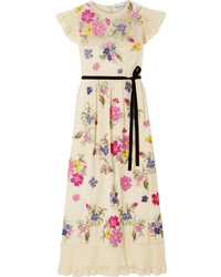 REDVALENTINO Med Embroidered Tte Midi Dress