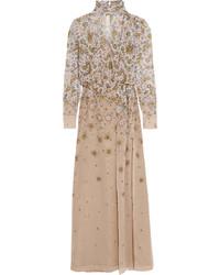 Topshop Unique Livonia Floral Print Silk Chiffon Maxi Dress