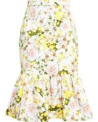 Isolda frilled floral midi skirt medium 175780