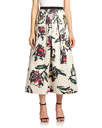 Phoebe floral jacquard midi skirt medium 175778