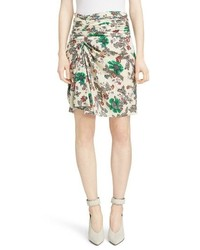 Isabel Marant Cereny Ruched Side Stretch Silk Skirt