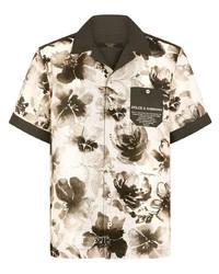 Dolce & Gabbana Floral Print Short Sleeve Shirt