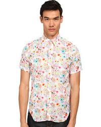 New amsterdam short sleeve floral dot button down short sleeve button up medium 277041
