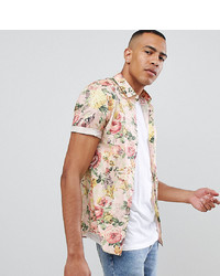 6a695d4cc76e3 Bellfield Short Sleeve Shirt With Cheetah Print Out of stock · ASOS DESIGN  Tall Skinny Floral Printed Shirt In Off White