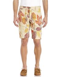 Ganesh Linen Floral Print Shorts