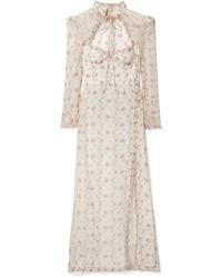 Brock Collection Olivia Ruffled Floral Print Silk Organza Maxi Dress