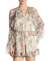 Mercer floating floral silk romper medium 3763521