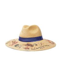 Etro Med Floral Print Straw Hat