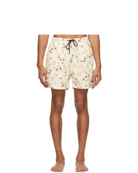 Solid and Striped Off White The Classic Daisy Swim Shorts