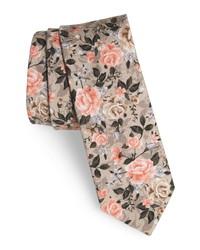 The Tie Bar Gardenia Blooms Cotton Tie